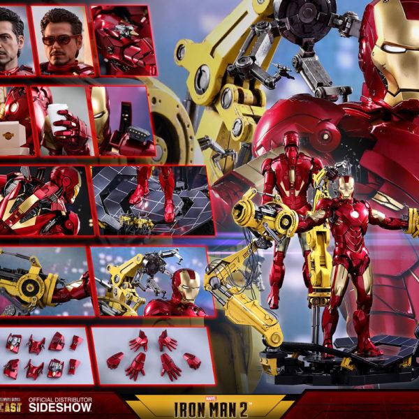 HOT TOYS – IRON MAN 2 – Suit-Up Gantry with Iron Man Mark IV - DIECAST Movie Masterpiece - 15