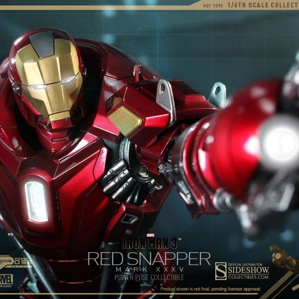 HOT TOYS - IRON MAN 3 - Mark 35 XXXL Red Snapper - Power Pose - 9