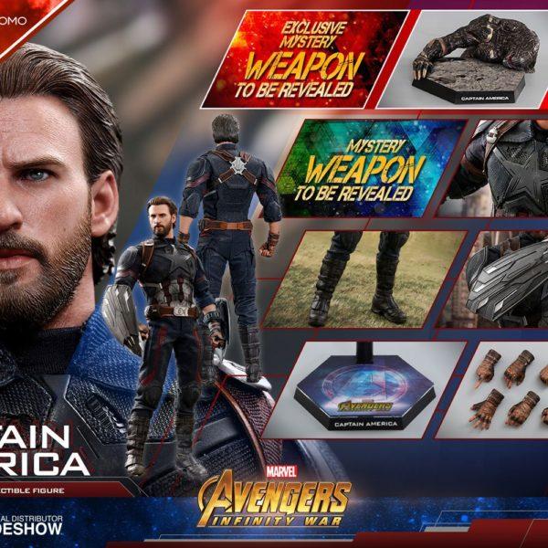 HOT TOYS - MARVEL - AVENGERS Infinity War - Captain America Movie Promo Edition - Movie Masterpiece - 1