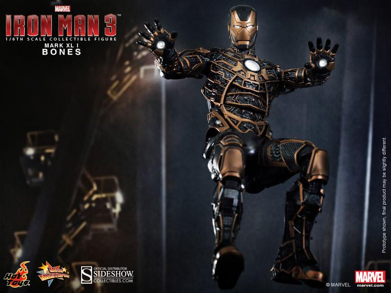 HOT TOYS – MARVEL – IRON MAN 3 – Iron Man Mark XLI Bones – Movie Masterpiece  – Animetoys 293e9d61e22