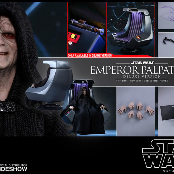 HOT TOYS - STAR WARS – Episode VI The Return of the Jedi - Deluxe Emperor Palpatine - Movie Masterpiece - 8