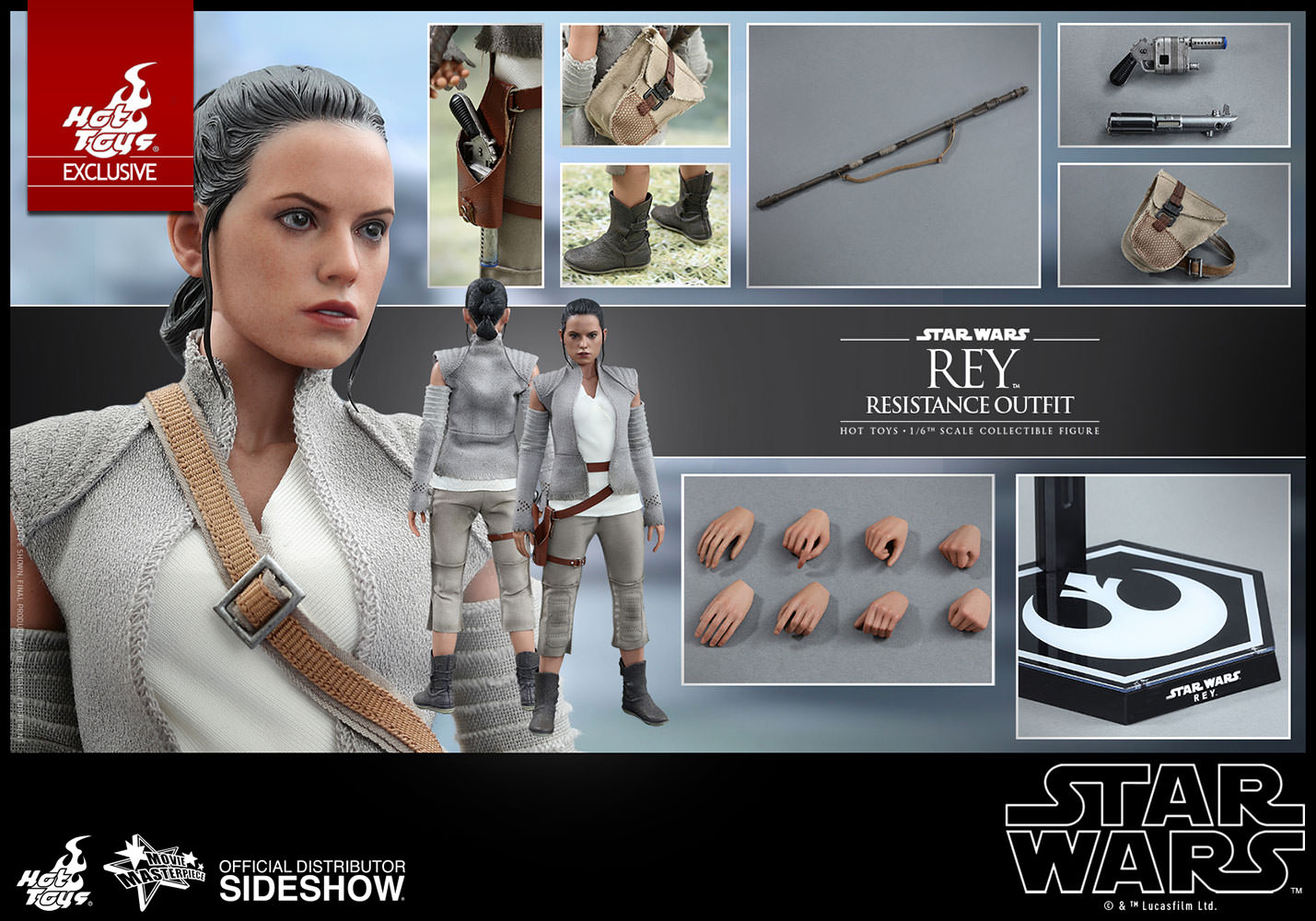 The Force Awakens Rey Final Scene Lightsaber Hilt... Star Wars Episode 7 Action- & Spielfiguren