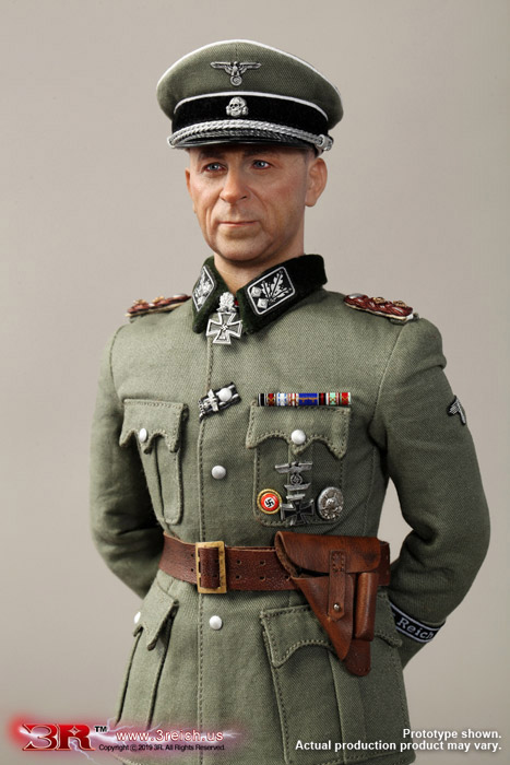 "1:6 Scale DID German WWII Dark blue Sidecap one bar  for 12/"" action figure use"