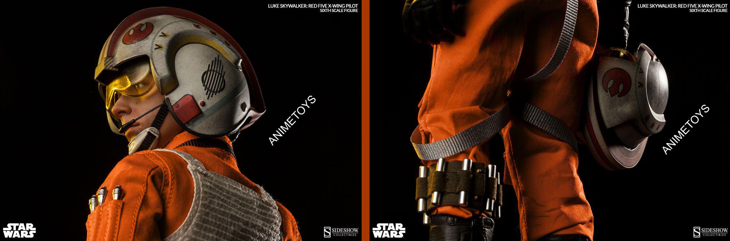 Sideshow – star wars – 12 inch figure – luke skywalker: red five